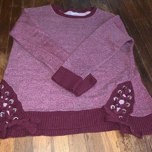Maurices red long sleeve top